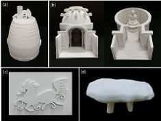 Photo: Different objects made with a 3D printer