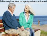 Photo: Elderly couple sitting on a bench