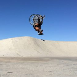 Photo: Aaron Fotheringham at WCMX while doing a backflip; Copyright: private