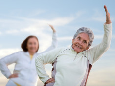 Photo: Elderly woman exercising