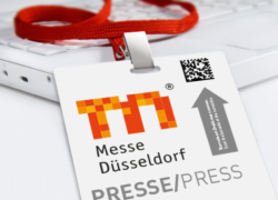Photo: Press card Messe Düsseldorf