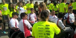Photo: participants of the run