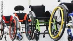 Photo: Different wheelchairs; Copyright: Messe Düsseldorf/ctillmann