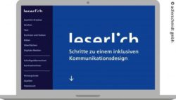 Photo: start page of the website leserlich.info; Copyright: adlerschmidt gmbh