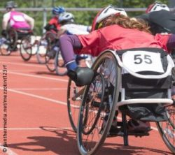Photo: Sportive competition between some wheelchair users; Copyright: panthermedia.net/mezzotint123rf