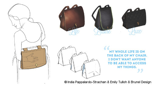 Photo: Special bags for wheelchair users