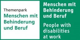 "Bild: Logo of ""People with disabilities at work""; Copyright: Messe Düsseldorf"