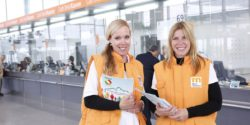 Photo: trade fair staff during REHACARE