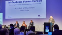 Photo: Keynote panel of last years M-Enabling Forum Europe during REHACARE; Copyright: Nicole Zimmermann