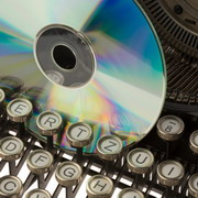 Photo: typewriter an CD