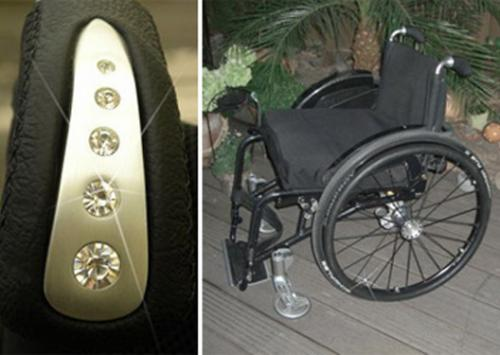 Foto: Wheelchair with noble details