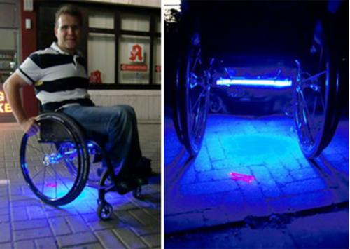 Foto: Wheelchair with Disco-Light