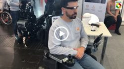 "Photo: Title photo ""Wheelchair control via Smartglasses""; linked to video"