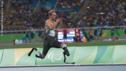 Photo: Johannes Floors, a german athlete, at the Paralympics 2016 in Rio; Copyright: Ottobock