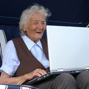 Photo: Senior on computer