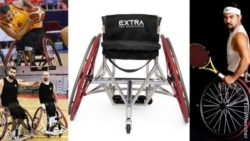 Photo collage: The turkish wheelchair basketball players Cem Gezinci, Ozgur Gurbulak and the tennis player Ugur Altinel; Copyright: ExtraWheelchairs