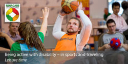 Photo: Man while playing wheelchair basketball; Copyright: Messe Düsseldorf