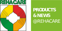 Graphic: Logo PRODUCTS & NEWS @REHACARE