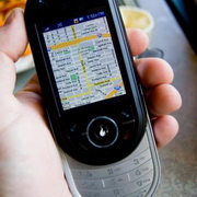 Photo: A GPS navigation system in a mobile phone