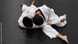 Photo: Two boys during a judo class; Copyright: University of Central Florida