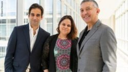 Photo: Left to right: Dr. Mario Spaggiari, Arlys Martinez and Dr. Enrico Benedetti.; Copyright: Fatemi Hossein