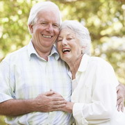 Photo: Elderly couple laughs