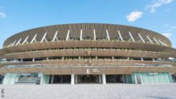 Image: The outside of the Tokyo Olympic Stadium; Copyright: IPC