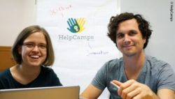 Photo: Cinderella and Niels of HelpCamps; Copyright: HelpCamps