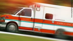 Photo: Speeding ambulance vehicle; Copyright: PantherMedia/welcomia