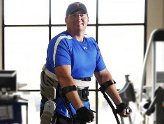 Photo: Brian Schaffer and the exoskeleton