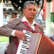 Photo: Man with accordion