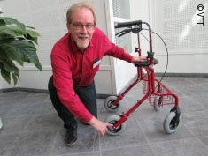 Photo: Researcher with rollator