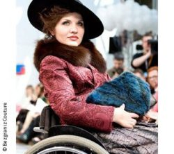 Photo: Woman in a wheelchair on a catwalk; Copyright: Bezgraniz Couture
