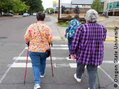 Photo: Older adults walking