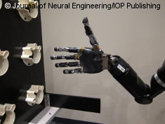 Photo: Mind-controlled robot arm