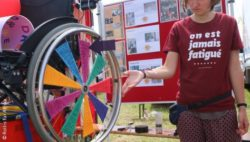 Photo: Wheelchair wheel of fortune on a festival