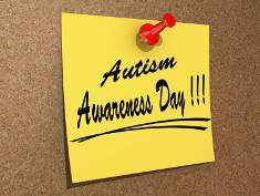 Photo: Yellow post it note saying: Autism Awareness Day