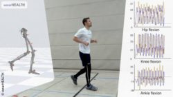"Photo: Motion capturing of a man wearing ""Smart Pants""; Copyright: wearHEALTH"