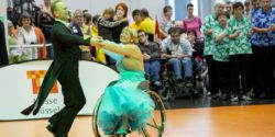 Photo: Wheelchair dance; Copyright: Messe Düsseldorf