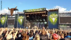 Photo: The stage at the Wacken Open Air 2016 while the band Bullet For My Valentine plays; Copyright: Andrea Schütt