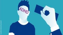 Graphic: A teenager stamped with ADHD on his forehead.; Copyright: panthermedia.net/scarlette23