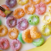 Photo: Colorful cornflakes