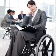 Photo: Woman in a wheelchair