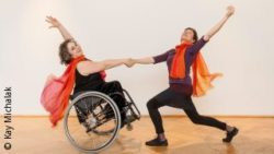 Photo: Kassandra Ruhm dancing with dancing partner; Copyright: Kay Michalak