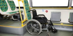 Photo: Wheelchair in a bus