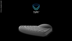 Photo: The TiPY keyboard for one hand; Copyright: Drory Handels GmbH