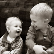 Photo: Two little boys laughing