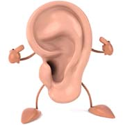 Picture: Ear with hands and feet
