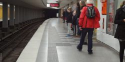 Photo: Subway station orientation system for blind people