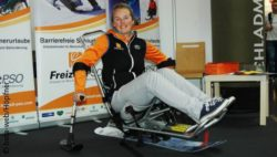 Image: Stefanie Gampersberger in a sit-ski; Copyright: beta-web/Höpfner